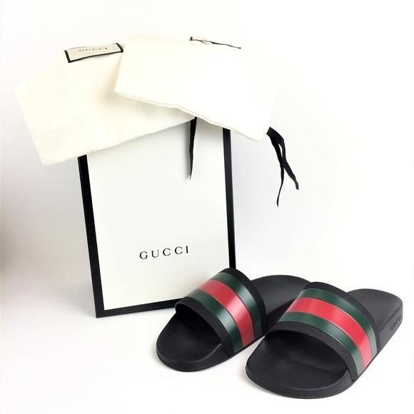 b18db2b7444 Gucci Other - Gucci 308234 Rubber Slides SZ 10